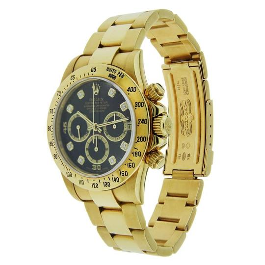 Rolex Rolex Daytona 18K Yellow Gold with Black Dial and Diamond Markers 40mm