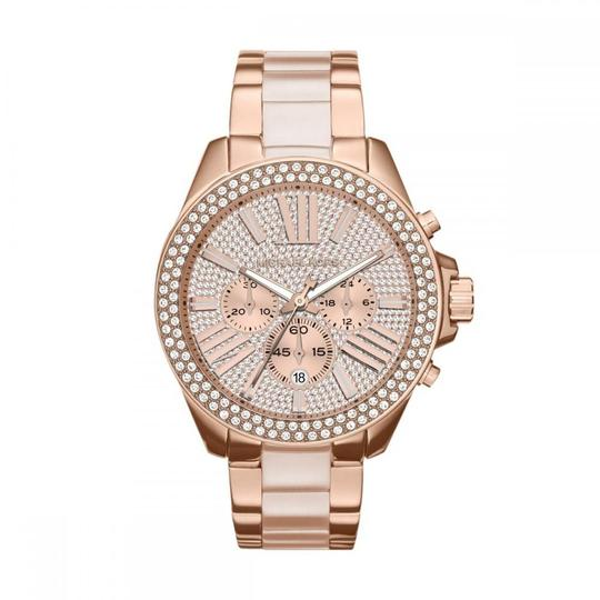 Preload https://item5.tradesy.com/images/michael-kors-rose-gold-wren-pave-acetate-mk6096-wrist-for-women-watch-23848739-0-0.jpg?width=440&height=440