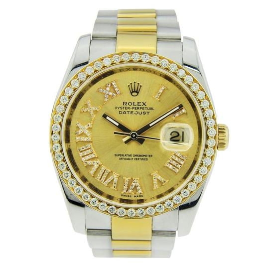 Preload https://img-static.tradesy.com/item/23848760/rolex-yellow-datejust-two-tone-with-diamond-bezel-and-hour-markers-36mm-watch-0-0-540-540.jpg