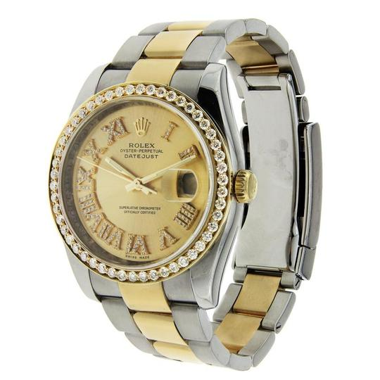 Rolex Rolex Datejust Two Tone with Diamond Bezel & Hour Markers 36mm