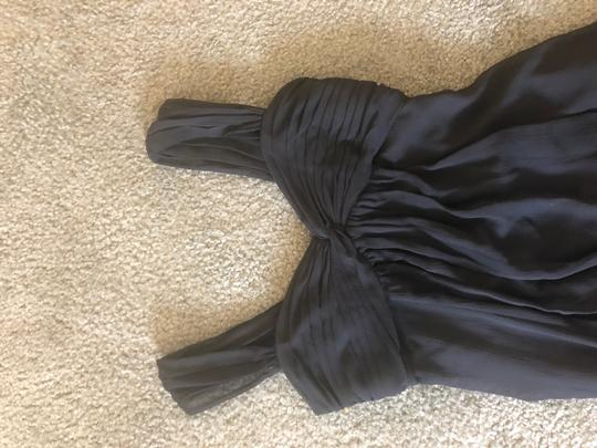 David's Bridal Black Chiffon Formal Bridesmaid/Mob Dress Size 2 (XS)