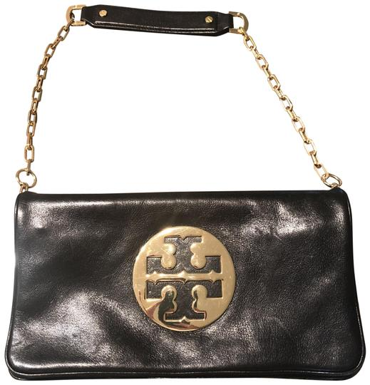 Preload https://item4.tradesy.com/images/tory-burch-and-gold-monogram-black-leather-clutch-23848793-0-1.jpg?width=440&height=440