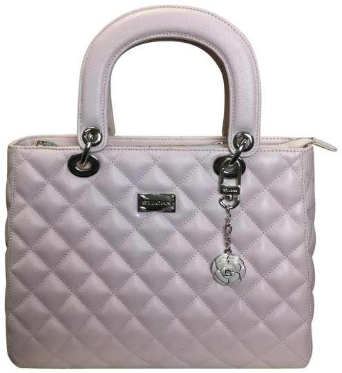 Preload https://item4.tradesy.com/images/st-john-quilted-light-pink-leather-satchel-23848808-0-1.jpg?width=440&height=440