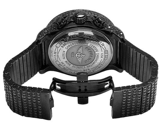 Breitling Men's Breitling A13370 Super Avenger XI PVD Steel Black Diamond Watch Image 2