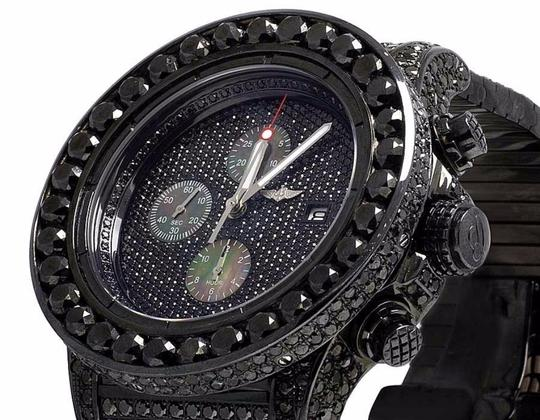 Breitling Men's Breitling A13370 Super Avenger XI PVD Steel Black Diamond Watch Image 5