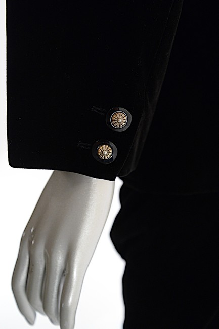 Saint Laurent YVES SAINT LAURENT VINTAGE Black Velvet Skirt Suit with Pretty buttons