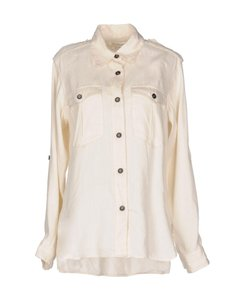Étoile Isabel Marant Safari Shirt Lauren Hutton Minimalist Clothing Button Down Shirt Ivory