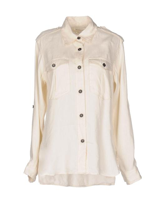 toile Isabel Marant Safari Shirt Lauren Hutton Minimalist Clothing Button Down Shirt Ivory