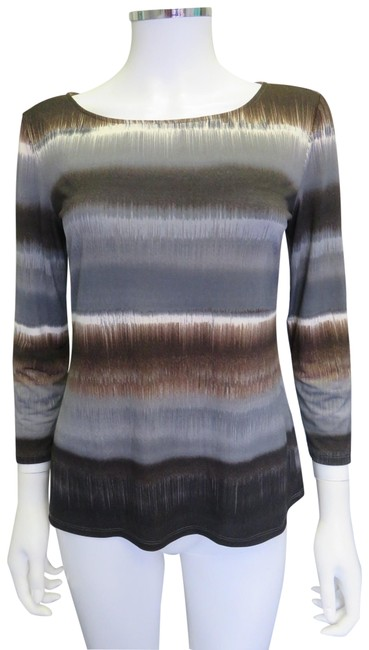 Preload https://item2.tradesy.com/images/elie-tahari-grey-multicolor-cotton-stretchy-34-sleeve-blouse-size-6-s-23848861-0-1.jpg?width=400&height=650