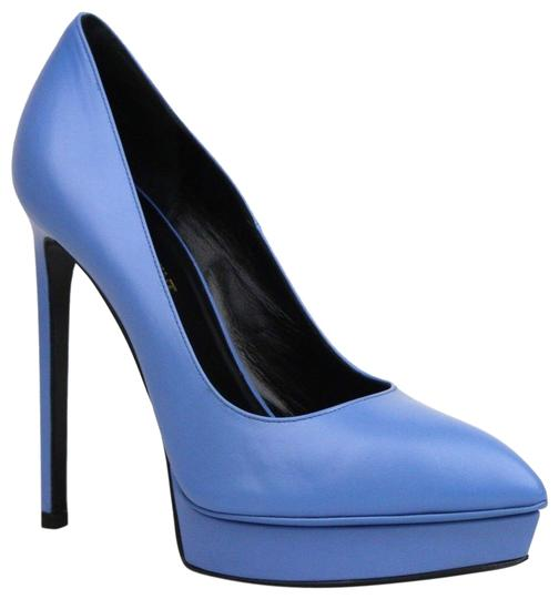 Preload https://img-static.tradesy.com/item/23848876/saint-laurent-light-blue-woman-s-leather-pumps-385us-85-320245-4317-platforms-size-eu-385-approx-us-0-1-540-540.jpg