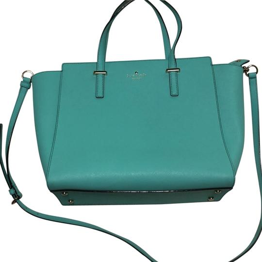 Preload https://item5.tradesy.com/images/kate-spade-cedar-street-satchel-teal-leather-shoulder-bag-23848884-0-1.jpg?width=440&height=440