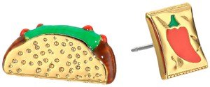 Kate Spade New Kate Spade Haute Stuff Taco & Chili Sauce Stud Earrings 12k Gold