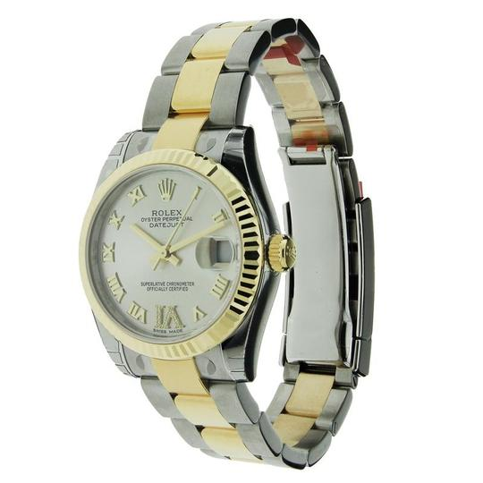 Rolex Rolex Datejust Stainless Steel & Yellow Gold with Diamond 6 Marker Dia