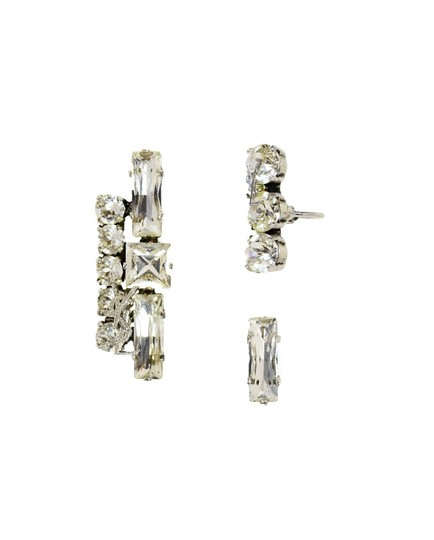 Preload https://img-static.tradesy.com/item/23848929/saint-laurent-silvertone-crystal-smoking-set-of-three-clip-earrings-0-0-540-540.jpg