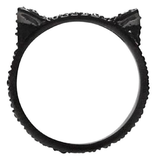 Kate Spade Brand New kate spade Jazz Things Up Black Pave Cat Ears Ring Sz 6