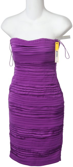 Item - Magenta Brielle Ruched Strapless Short Night Out Dress Size 0 (XS)