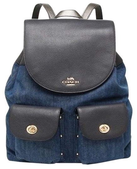 Preload https://item5.tradesy.com/images/coach-billie-mix-denim-multi-leather-backpack-23848944-0-1.jpg?width=440&height=440