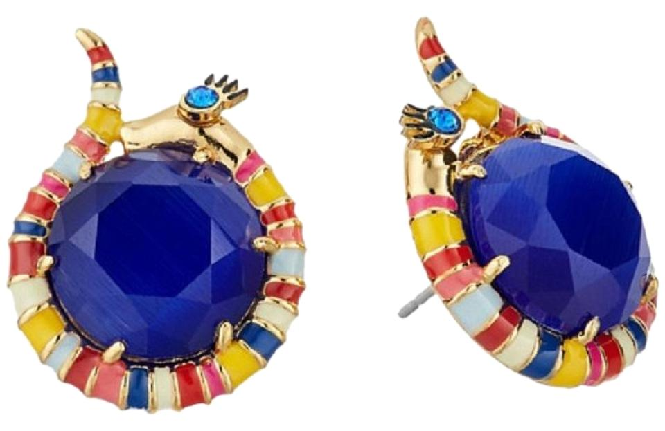 Kate Spade New E Things Up Snake Stud Earrings Blue
