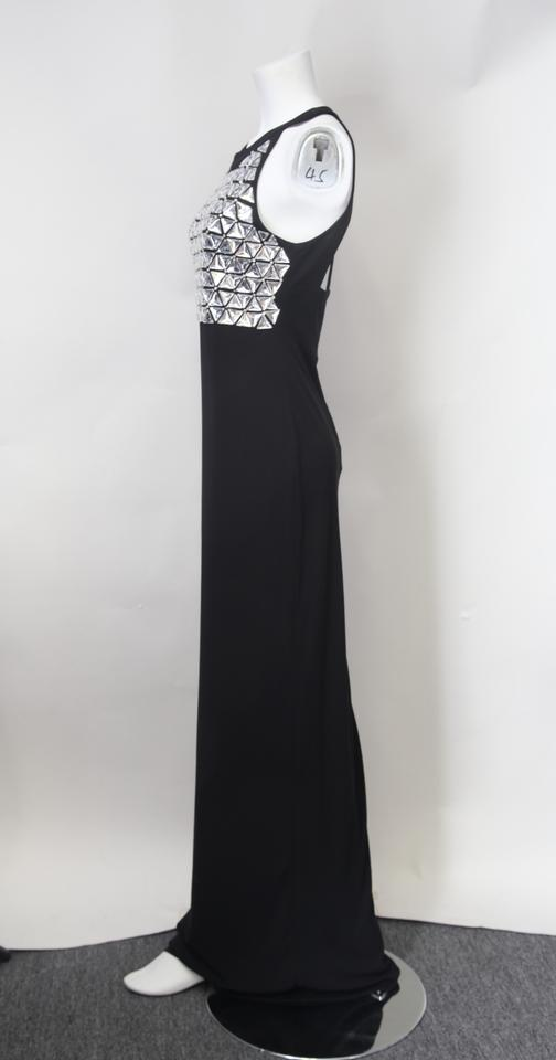 Saldana Formal Dress bodice Black Beaded Parker Gown Sleeveless 15qYv