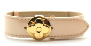 Louis Vuitton Ultra RARE Flower Butterfly Clasp gold hardware bracelet cuff bangle