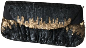 I Santi Studded Black/Gold Clutch