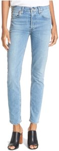 RE/DONE Straight Leg Jeans-Light Wash