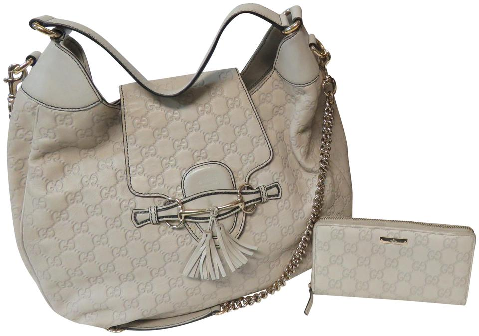bb8d482ab55 Gucci Emily Guccissima Cream Purse 32 Off White Leather Hobo Bag ...