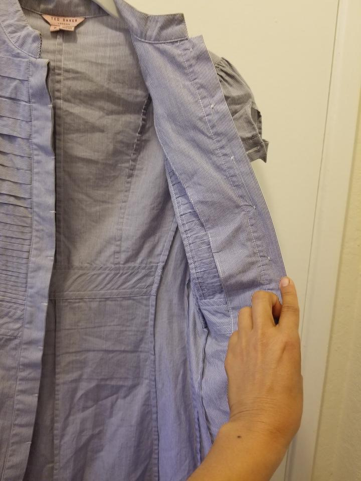 Casual Size 83 Blue Dress Short Rn95229 xs Baker 0 White Ca25459 Ted Off Light Retail