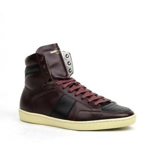 Saint Laurent Maroon/Black And Leather Hi Top 40m/Us 7 418026 6162 Shoes