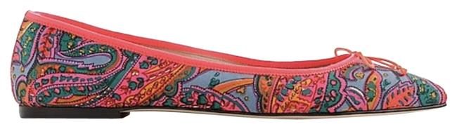 Item - Bright Pink Multi Gemma In Paisley Print F5520 Flats Size US 7 Regular (M, B)