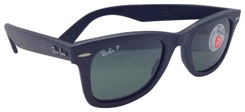 e1b7fec3c3 Ray-Ban Rb 2140-q-m 1152 N5 Black Leather Frame Green Lenses New ...