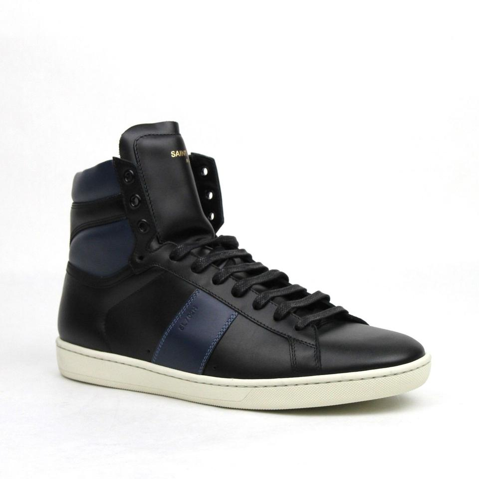 Laurent 41m Men's and Leather 8 330264 Shoes Blue Us 1041 Hi Black Saint top 6xq8wItd6