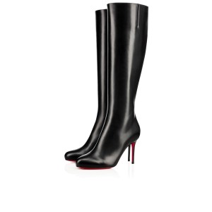 Christian Louboutin Vitish Leather Knee-high Classic Black Boots