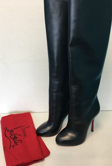 Christian Louboutin Vitish Leather Knee-high Classic Black Boots Image 1