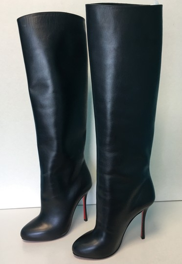 Christian Louboutin Vitish Leather Knee-high Classic Black Boots Image 2
