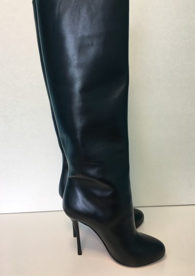 Christian Louboutin Vitish Leather Knee-high Classic Black Boots Image 5