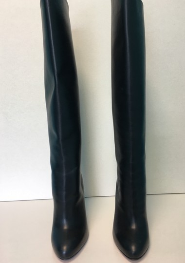 Christian Louboutin Vitish Leather Knee-high Classic Black Boots Image 6