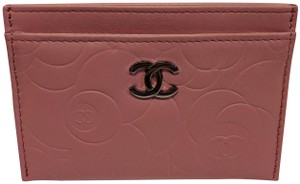 Chanel Chanel Camellia Pink Leather Card Holder