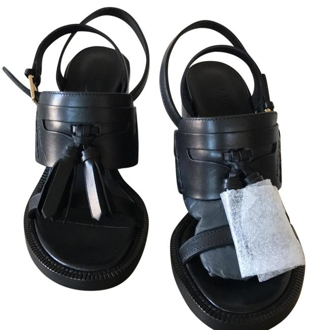 Burberry Black Bethany Tassel Leather Block-heel Sandals Size US 7.5 Regular (M, B) Burberry Black Bethany Tassel Leather Block-heel Sandals Size US 7.5 Regular (M, B) Image 1