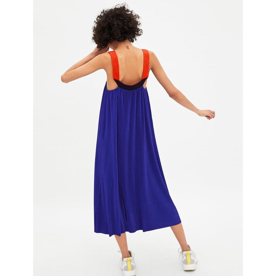 Electric Dress Casual Short Blue Straps Zara with Pleated BqWZpp