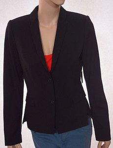 Tahari Tahari Tucker Jacket Womens Lined Padded Button Suit Blazer-black -8