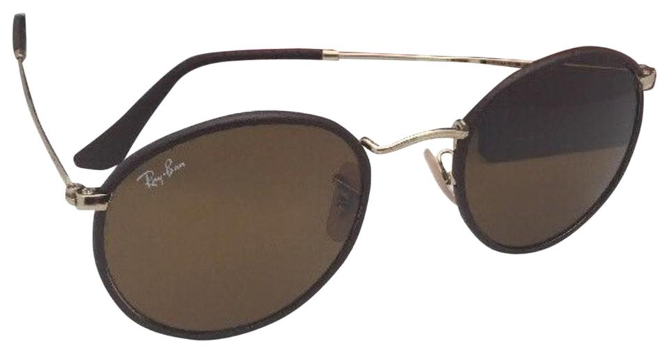 7c0d5212cb1 Ray-Ban New Rb 3475-q 9041 50-21 Brown Leather Frame W  Brown Lenses ...