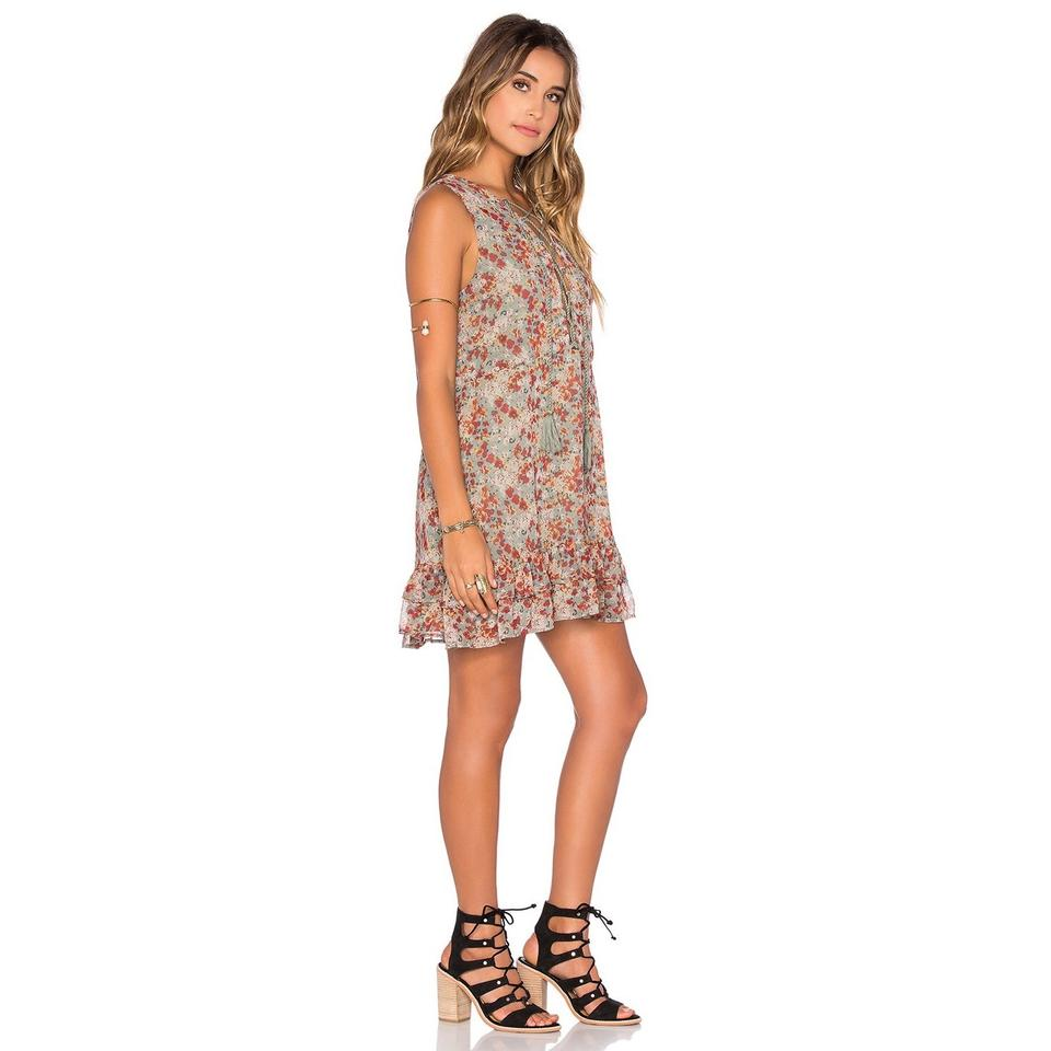 Green Red Adrienne Floral Lace Dress Casual Up Shift Tularosa 5EqHBw