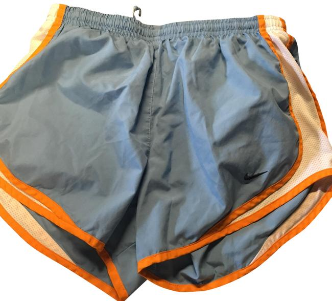 Item - Light Blue with White and Orange Trim Running Activewear Bottoms Size 6 (S)