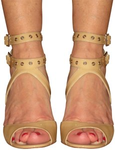 Jimmy Choo Leather Italy Ankle Straps Tan Sandals