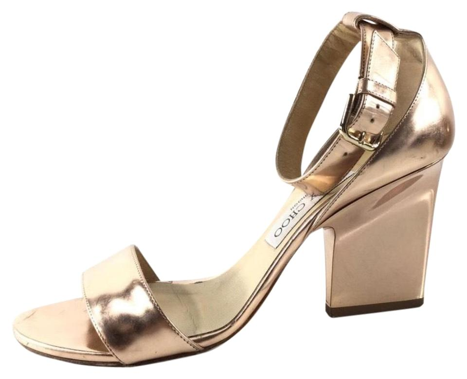 cdc412aa912c Jimmy Choo Rose Gold Edina Sandals Size EU 38 (Approx. US 8) Regular ...