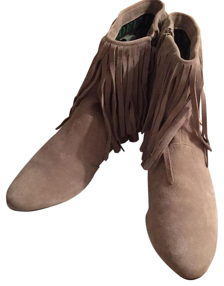 e6b817eb9e41b Sam Edelman Gray Suede and Fringe Ankle Boots Booties Size US 8.5 ...