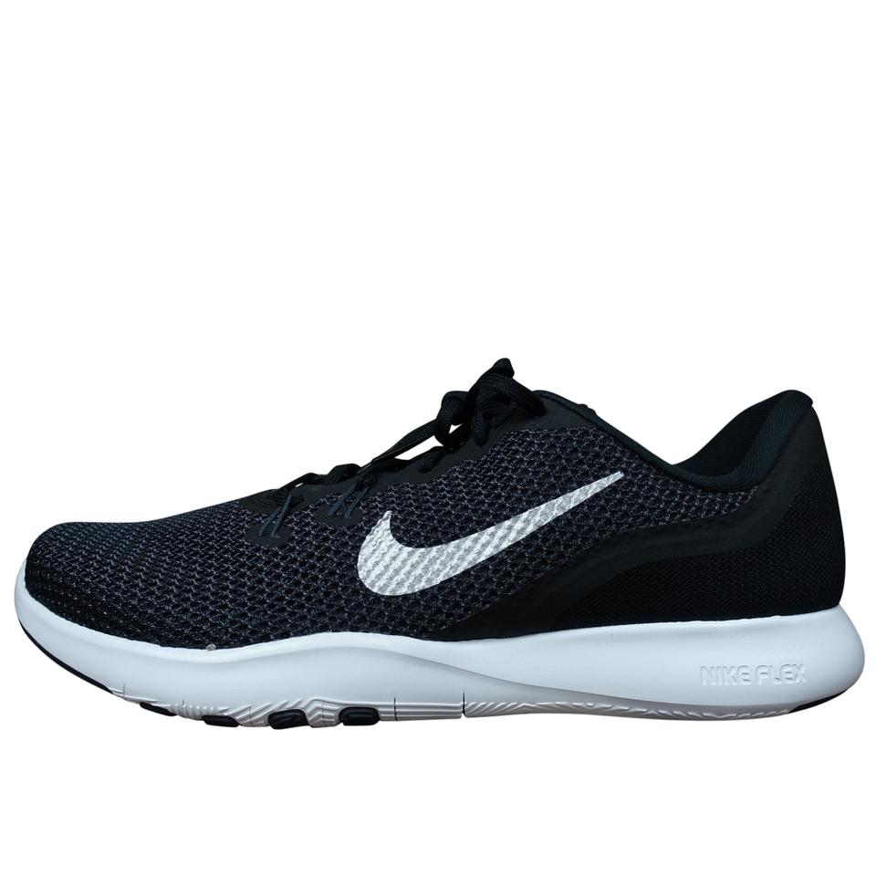 8049f057ef Nike Black White Wmns Flex Trainer Women Gym Workout Lace Up Sneakers Size  US 10 Regular (M, B) 50% off retail