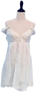 A|X Armani Exchange short dress White Off Shoulder Sleeveless Cotton Sundress on Tradesy