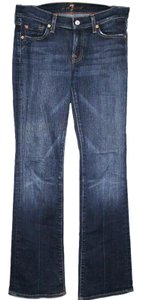 7 For All Mankind 7famk Size27 Boot Cut Jeans-Dark Rinse